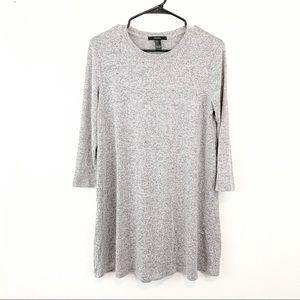 Knit 3/4 sleeved Grey Dress